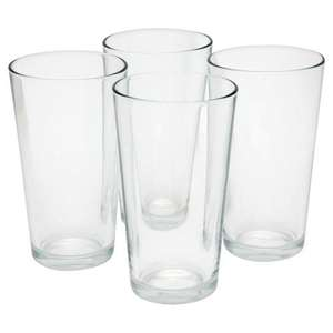Wilko Everyday Value Pint Glasses x 4 for £1 @ Wilkinsons