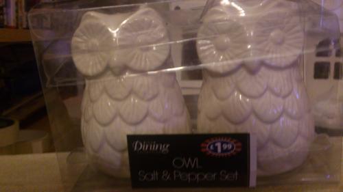 Owl salt and pepper pot set 10p @ B&M instore