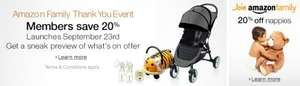 Amazon Family Thank You Event Starts 9am 23/09/2013 & Ends 11.59pm 06/10/2013 - 20% off 533 Different Products