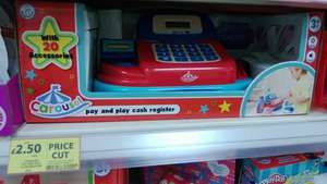 Pay and Play Cash register, £2.50 (was £10) at Tesco instore