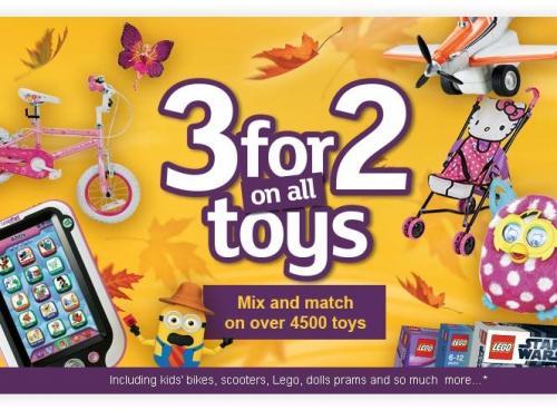 It's BACK 3 for 2 toys starting Wednesday @ ARGOS