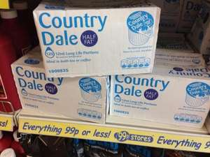 120 x 12ml long life Country Dale UHT skimmed milk portions for just 99p @ 99P stores