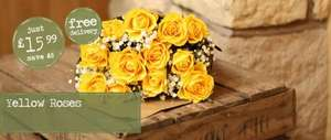 12 Roses & Chocolates for £13.59 Delivered @ flowerfete (potentially £11.56  with Cashback)