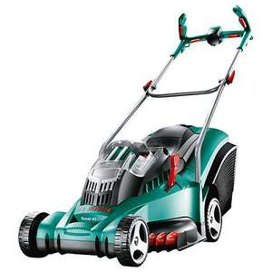 Bosch Rotak 43 LI Ergoflex Cordless Rotary Lawnmower (43 cm Cutting Width) 2 x 36 Volt Li-Ion Batteries a£317.93 @ Amazon
