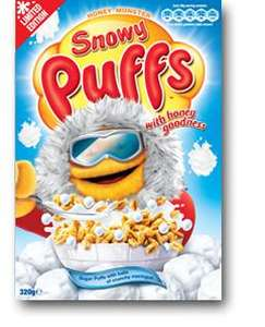 """Honey Monster """"Snowy Puffs"""" ('Limited Edition') (320g) @ Home Bargains --- 79p!"""