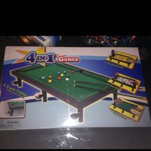 4 in 1 Games Pool Table £2.50 @ Asda