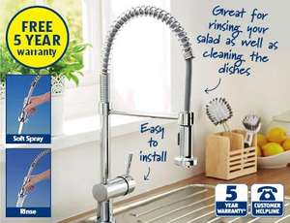 Spiral spring kitchen mixer tap Aldi : £49.99