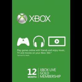 12 Month Xbox Live Gold Membership (instant delivery) £26.90 @ CDKeys