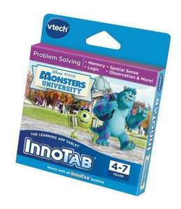 Various innotab games (monsters university, planes, mickey mouse, etc) - reduced to £9.99 at Amazon (free delivery with prime, or spend an extra 1p for free super saver delivery)