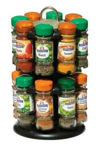 2 Tier Spice Rack With 16 Schwartz Herb & Spice Jars - £19.77 @ Amazon