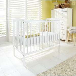 Kinder Valley Kai Compact Cot in White or Natural  + Kinder Flow Mini Kai Mattress £68.95 delivered @ ASDA