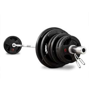 Bodymax 100Kg Olympic Rubber coated weights with 7FT Bar & Spring locks (possible cashback) £176.79 @ Tesco