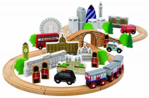 Tidlo City of London Wooden Train Set £24.66 @ Amazon