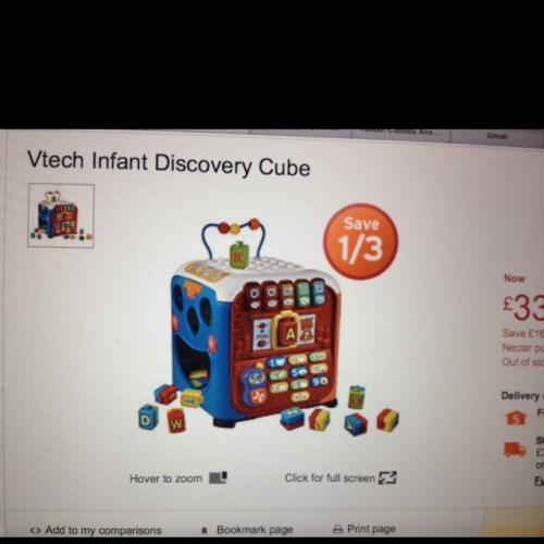 V-tech discovery cube £33.32 @ sainsburys