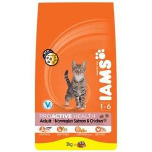IAMS Cat Food Proactive Health Mature & Senior Adult 7yrs + Chicken 850g £2.00 online @ Wilko