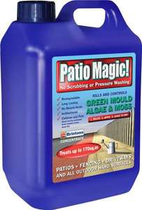 Patio Magic! 5 Litres Liquid Concentrate Mould, Algae and Moss Killer £13.17 @amazon.co.uk