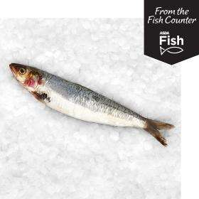 Asda counter fresh whole sardines by weight £2.50 per kilo