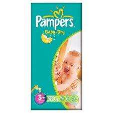 BOGOF on Pampers baby dry & active fit nappies @Tesco £9.99 plus clubcard boost