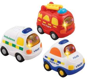 Vtech Toot Toot Drivers Emergency Vehicles x 3 £11.99 @ Amazon