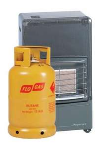 Superser F150 Radiant Portable Heater with Gas Cylinder £79.95 @ Flogas