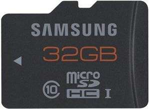 Samsung 32GB Micro SDHC Plus UHS-I Memory Card £16.14 del @gizzmoheaven using gizzmo5 and poss 5.25% from TCB, this will bring it as low as £15.24