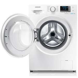 Samsung Ecobubble WF80F5E0W4W Washing Machine Freestanding White - £371 Incl. Next Day Delivery + £50 Cashback @ AO.com [Total Price = £321]