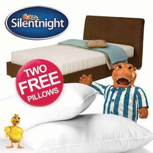 Silentnight Memory Foam Double Mattress + 2 FREE Pillows £150.00 @  eBay/uk-bedding