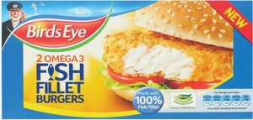 Birds Eye 2 Omega 3 Fish Fillet Burgers £1.25 @ Tesco