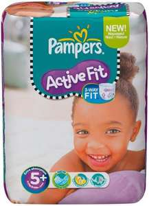 Pampers Active Fit Size 5 Plus Monthly Pack (124 Nappies) £14.58 per pack S&S or £18.22 for one off delivery @ Amazon