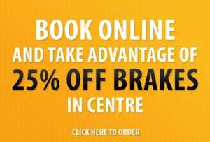 25% off new tyres and brakes at Kwik Fit