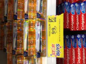 Home bargains White glo smokers extra strength  whitening plus toothbrush and toothpicks inside £0.99 - rrp £3.99