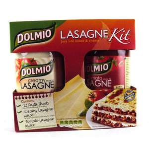 Dolmio Lasagne Meal Kit (807g- 852g) was £3.99 now £1.99 @ Morrisons