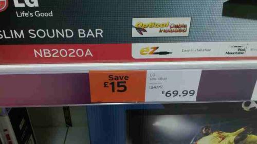 LG NB2020A Soundbar  £69.99 @ Sainsburys