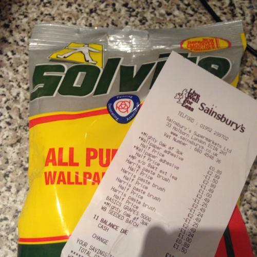 Sainsburys solvite wallpaper adhesive upto 10 rolls £1.49 instore