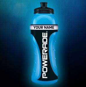 Free! Powerade personalised sports bottle when buying promotional 500ml packs