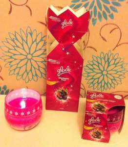 Glade Christmas Candles in Gift Box 2 for £2.00 @ Asda instore