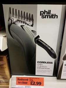 Phil Smith Cordless Hair Clipper - £2.99 - Sainsbury's - in store