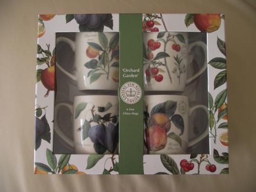 Kew Gardens Orchard Fruit 4 Mug Set 70% off Sainsbury instore only £6.50
