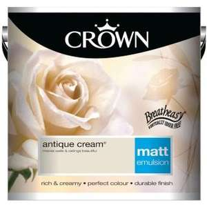 BOGOF on selected 2.5L Crown paint £18.49 @ B&M stores