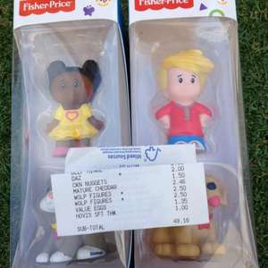 Fisher price world of little people figures £2.50 tesco