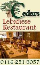 50% Food discount @ Cedars Lebanese in Leicester