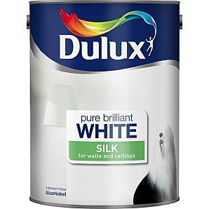 Dulux Pure Brilliant White Paint Silk or Mat 5L £10 @ Asda online & instore
