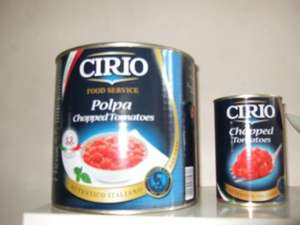 HUGE tin of Cirio Chopped Tomatoes £2.00 each instore at Asda in Colne (Equivalent to 31p for a 400g tin)