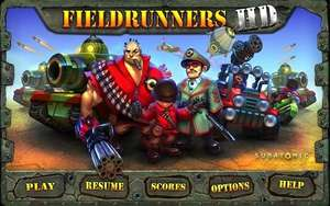 Fieldrunners HD and 2 for Android on sale for £0.62p each on Google Play