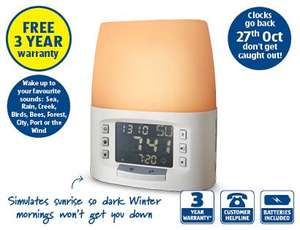 Sunrise Alarm Clock Aldi Sunday 13th October - £24.99