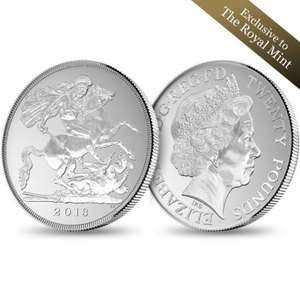 Royal Mint The George and the Dragon 2013 UK £20 Fine Silver Coin - £23 Delivered