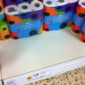 9 Rolls of Spring Force Toilet Tissue for £1.99 in Tesco