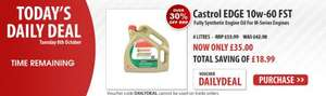 Opie oil Daily Deal - 4 ltrs Castrol EDGE 10w-60 now only £35.00