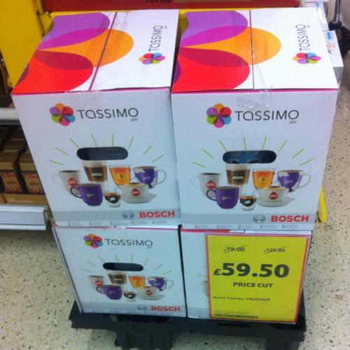 Bosch Tassimo Joy Coffee Machine now £59.50 @Tesco