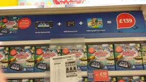 PS Vita Wifi + 3G with 8gb memory card and games pack £139.00 @  Tesco instore and online